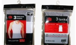 120 Units of Men Tank Top In Mixed Colors And Sizes - Womens Bras And Bra Sets