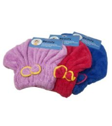 72 Units of Microfiber Shower Cap With Bow 24cm - Shower Caps