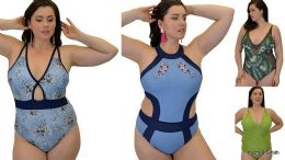 12 Units of Yacht & Smith Plus Size Womens Assorted Bathing Suit Lots Limited Supply - Womens Swimwear