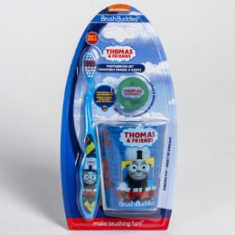 24 Units of Toothbrush Gift Set Thomas Train Toothbrush, Cup & Cap - Toothbrushes and Toothpaste