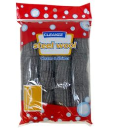 144 Units of 12 Piece Steel Wool - Scouring Pads & Sponges