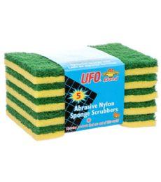 72 Units of 5 PIECE THIN SPONGE SCRUBBER - Scouring Pads & Sponges
