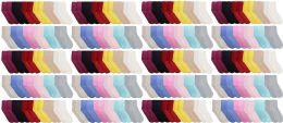 120 Units of Yacht & Smith Womens Soft Fuzzy Gripper Crew Socks, Assorted Solid Size 9-11 - Womens Fuzzy Socks