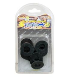 144 Units of 15 Piece 1 Inch Flat Rubber Washer - Hardware Gear