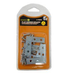 144 Units of 4 Sets 40mm Flat Corner Braces - Hardware Products