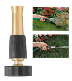 24 Units of Orbit 4 Inch Brass Hose Spray Nozzle - Garden Hoses and Nozzles