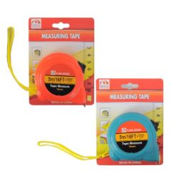 72 Units of 5 M Measuring Tape In Assorted Color - Tape Measures and Measuring Tools