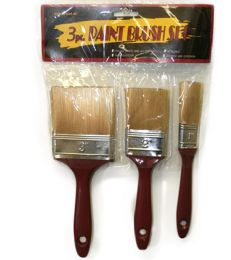72 Units of 3 Piece Paint Brush - Paint and Supplies