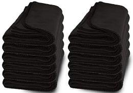12 Units of Yacht & Smith 50x60 Fleece Blanket, Soft Warm Compact Travel Blanket, Black - Fleece & Sherpa Blankets