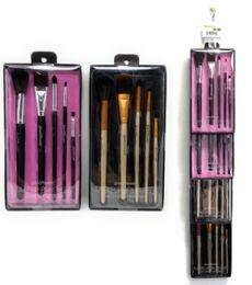 48 Units of 5 Piece Glam And Beauty Make Up Brush Set - Cosmetics