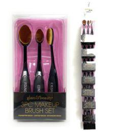 48 Units of 3 Piece Glam And Beauty Make Up Brush Set - Cosmetics