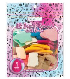 96 Units of 32 Piece Cosmetic Sponge And Blender Revele - Cosmetics