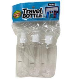96 Units of 3 Piece Travel Bottles - Cosmetics