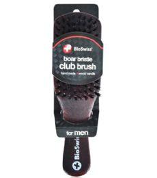 48 Units of Boar Bristle Wood Club Brush Bioswiss - Hair Brushes & Combs