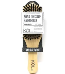 48 Units of Boar Bristle Wood Brush Kol - Hair Brushes & Combs