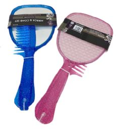 72 Units of Mirror Handheld With Comb Set - Hair Brushes & Combs
