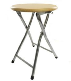 10 Units of Wooden Folding Backless Stool Beech - Home Accessories