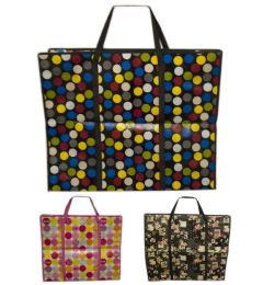 48 Units of Heavy Duty Bag In Assorted Color 60x45x20 cm - Tote Bags & Slings