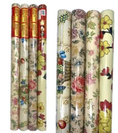 72 Units of Shelf Liner Adhesive Flower Style - Home Accessories