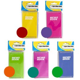 48 Units of Memo Book 4pk 50sht 5ast Color Combos Top Spiral Bound Stat Pbh - Note Books & Writing Pads