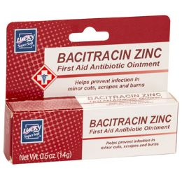 24 Units of Lucky Bacitracin Zinc First Aid Antibiotic Ointment 0.5oz Boxed - Pain and Allergy Relief
