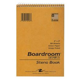 72 Units of Steno Book 60pg Green Paper 6x9 Brown Kraft Cover - Note Books & Writing Pads