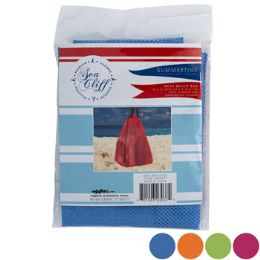 36 Units of Beach Mesh Utitly Bag 4asst Colors 18x5x17 W/drawstring - Sporting and Outdoors