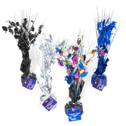 24 Units of Graduation Tinsel Centerpiece/ Balloon Weight4ast Solid/multi - Party Supplies
