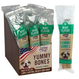 15 Units of Dog Treats Mint Flavor Stick 2.8 Oz In 30pc Counter Display - Pet Supplies