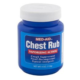 24 Units of Vaporizing Chest Rub 4oz Jar - Pain and Allergy Relief