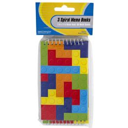 48 Units of Memo Book 3pk 60sht Bldg Blocks Top Bound Spiral Stat Pbh - Note Books & Writing Pads