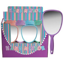 36 Units of Mirror W/handle In Display 4ast Colors Upc Label 36pc Pdq - Assorted Cosmetics