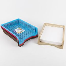 48 Units of Tray Letter Size 4 Colors In Pdq 13 X 9.8 X 2.3 ST-3935 - Office Accessories