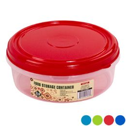 """48 Units of Cookie Container Round 8.4dia"""" 4 Color Lids - Clear Bottom - Baking Supplies"""