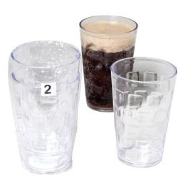 48 Units of Tumblers GlasS-Look Clear 2pk 18oz In White Casecut Pdq - Kitchen & Dining
