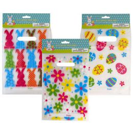 48 Units of Loot Bag Zipper 10ct Pe W/handle 3ast Easter Print To/from Pbh - Easter