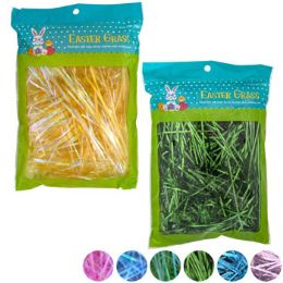 24 Units of Easter Grass 7asst Holographic/ Iridescent 1oz Easter Polybag - Easter