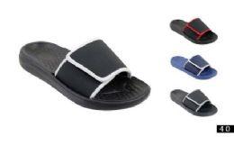 48 Units of Men's Slide On Slipper Assorted Colors - Men's Flip Flops and Sandals