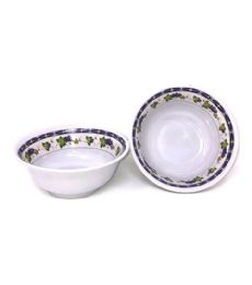 60 Units of 7 Inch Bowl Melamine Purple Grapes - Plastic Bowls and Plates