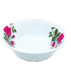 60 Units of 8 Inch Bowl Melamine Pink Flower - Plastic Bowls and Plates