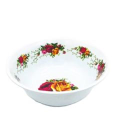 60 Units of 8 Inch Bowl Melamine Yellow Red Roses - Plastic Bowls and Plates