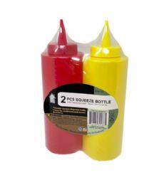 72 Units of 2 Piece Dispenser Bottle - BBQ supplies