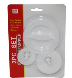 144 Units of 3 Piece Drain Stoppers - Shower Accessories
