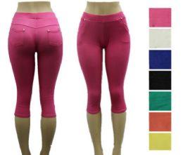48 Units of Premium Jeggings For Women Capri Length - Womens Capri Pants