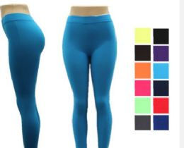 48 Units of Women Full Length Cotton Solid Leggings - Womens Leggings