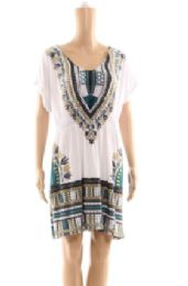 72 Units of Womens Summer Poncho Top Assorted Styles - Womens Fashion Tops