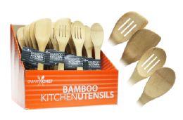 96 Units of Bamboo Kitchen Utensil (assorted) - Kitchen Utensils