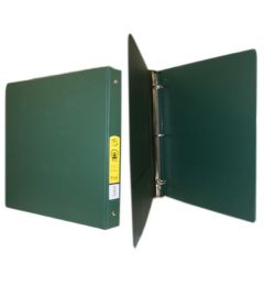 72 Units of Bazic 11 Inch Green 3 Inch Binder - Binders