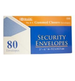 72 Units of Bazic 80 Piece Security Envelope Gum - Envelopes