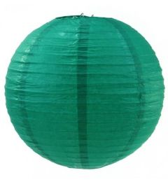 120 Units of 8 Inch Paper Lantern In Emerald Green - Party Center Pieces
